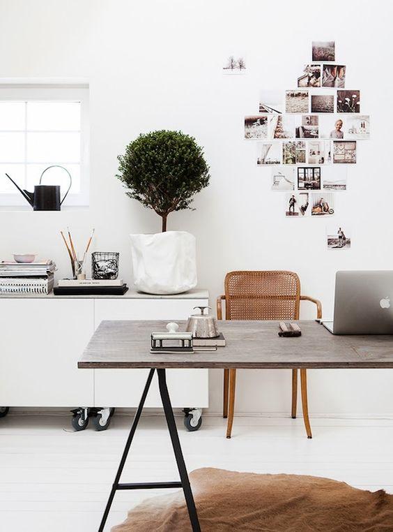 home office styling ideas scandi minimal