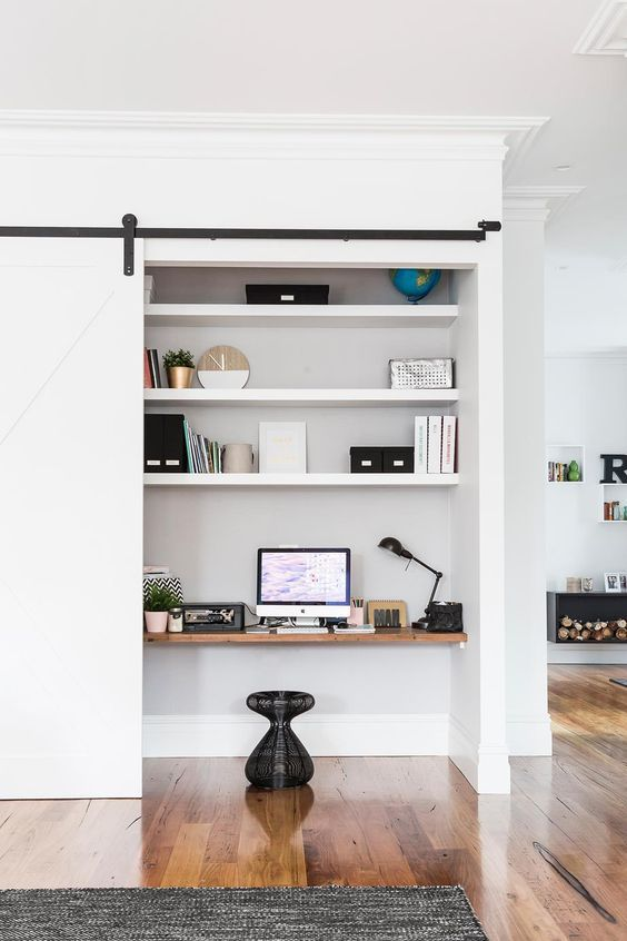 home office styling ideas hidden nook living room